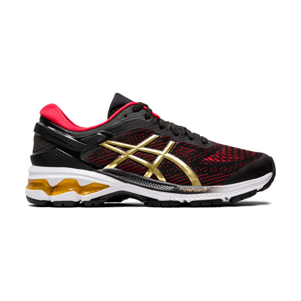Asics Gel Kayano 26 Femme Black / Pure Gold