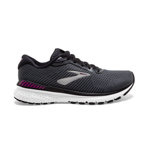 Brooks Adrenaline GTS 20 Homme Black  White / Hollyhock