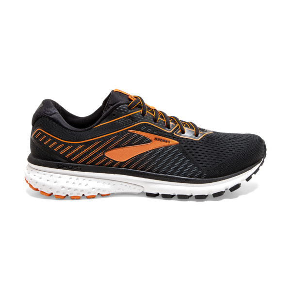 Brooks Ghost 12 Homme Black / Turbulence / Orange