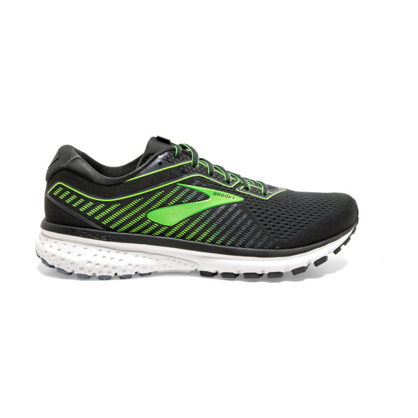 Brooks Ghost 12 Homme Ebony / Grey / Gecko