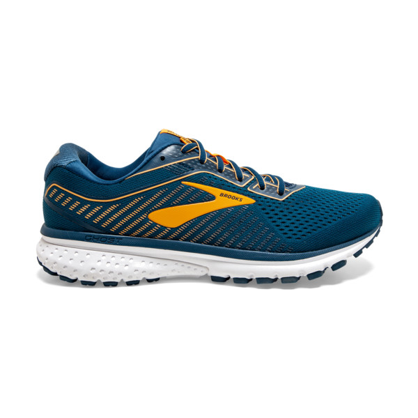 Brooks Ghost 12 Homme Poseidon / Grey / Orange