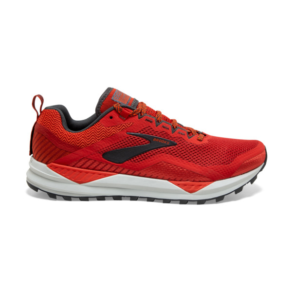 Brooks Cascadia 14 Homme Red / Ebony /grey