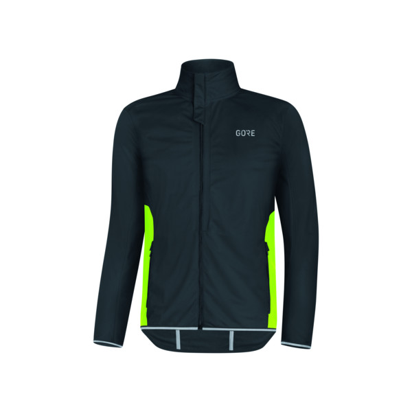 Gore Veste R3 WINDSTOPPER® Homme Black / Neon Yellow