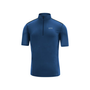 Gore R5 Maillot zip Homme Deep Water Blue