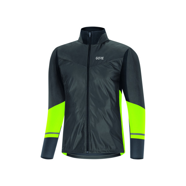 Gore Maillot ML R5 Partial GTX Homme Black / Neon Yellow