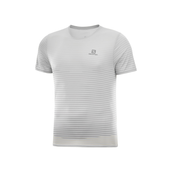 Salomon Sense T-shirt Homme White Alloy